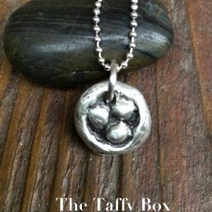 Pewter Bird's Nest Pendant Necklace..